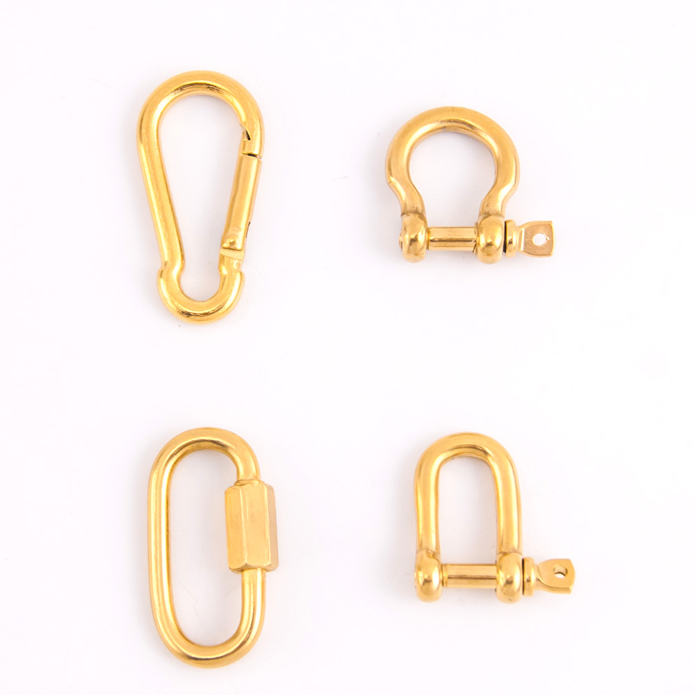 100% Stainless Steel Clasp For Jewelry Finding Strong Shackle U Carabiner Snap Hook Charm Climbing Buckle Horseshoe Clasp