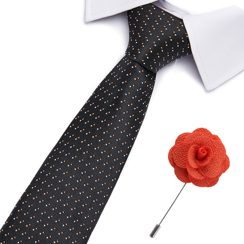 New Paisley Jacquard Woven Silk Mens Tie Handkerchief Set Neck Tie 7.5cm Striped Ties For Men Suit Accessories Business Wedding