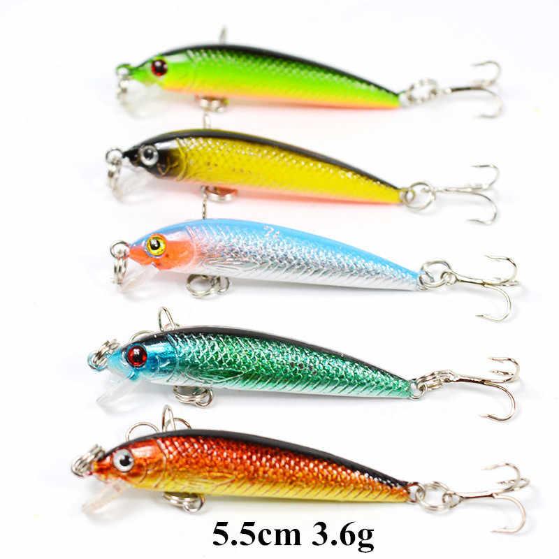 Super Deal Beberapa Warna Crankbait Popper Ikan Kecil Memancing Logam VIB Sendok Umpan dengan Treble Hook Memancing Aksesoris