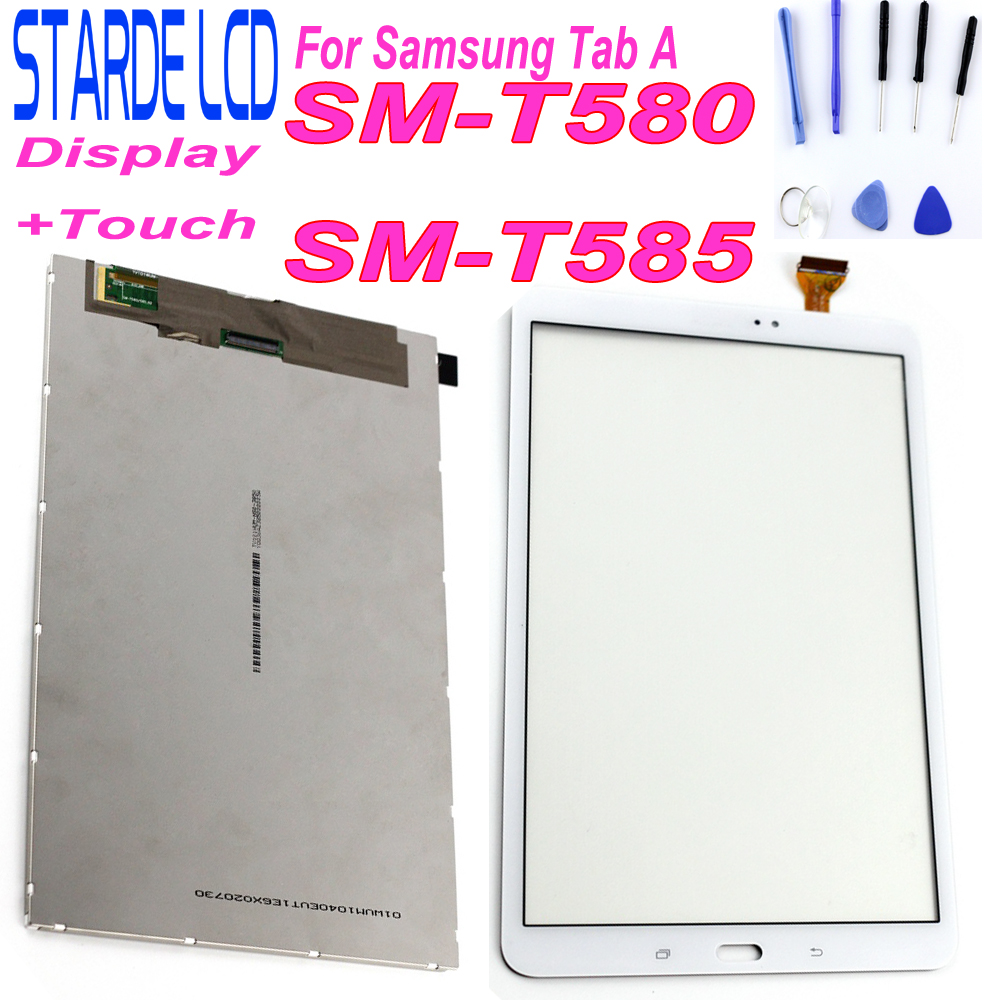 New LCD For Samsung Galaxy A 10.1 SM-T580 T585 LCD Display Touch Screen Digitizer Assembly  With Tools