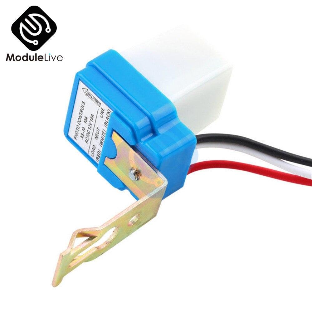 Interruptor automático AC 220V encendido apagado automático Photocell farola interruptor 50-60Hz 10A foto Control Photoswitch Sensor lámpara