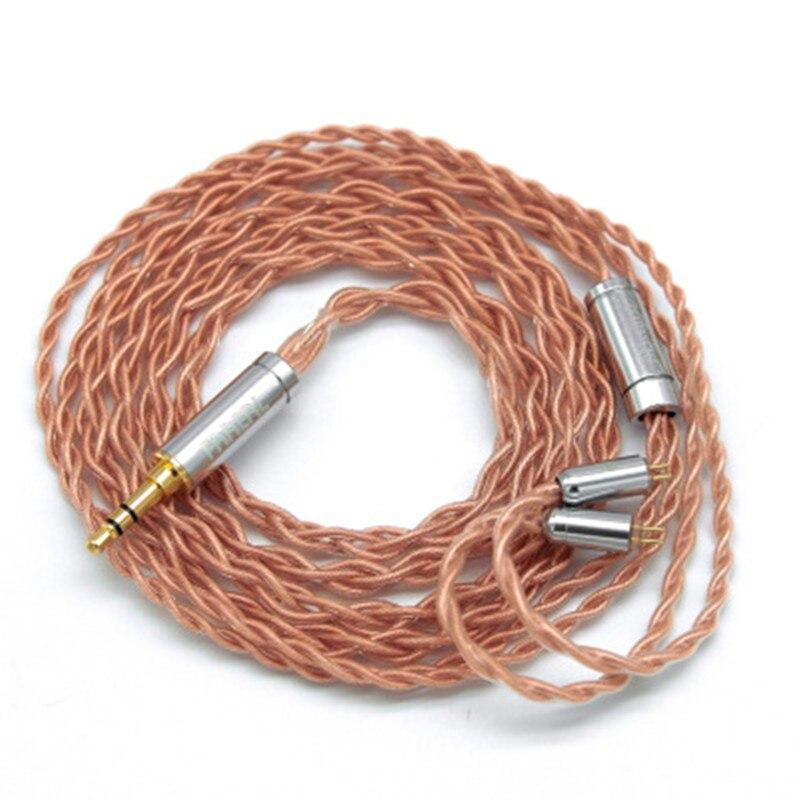 4-жильный медный кабель для наушников с 2-контактным/MMCX разъемом 3,5/4,4/2,5 мм