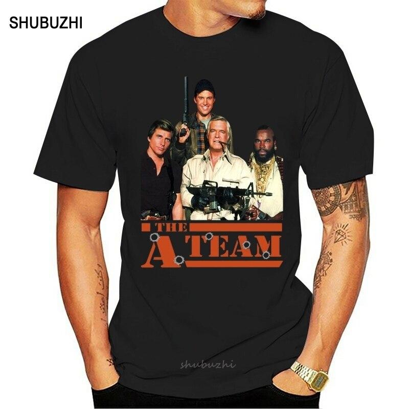 Футболка The A Team V1 Tv Series Мужская, хлопковая рубашка с черным графитным рисунком, брендовая тенниска европейского размера, лето