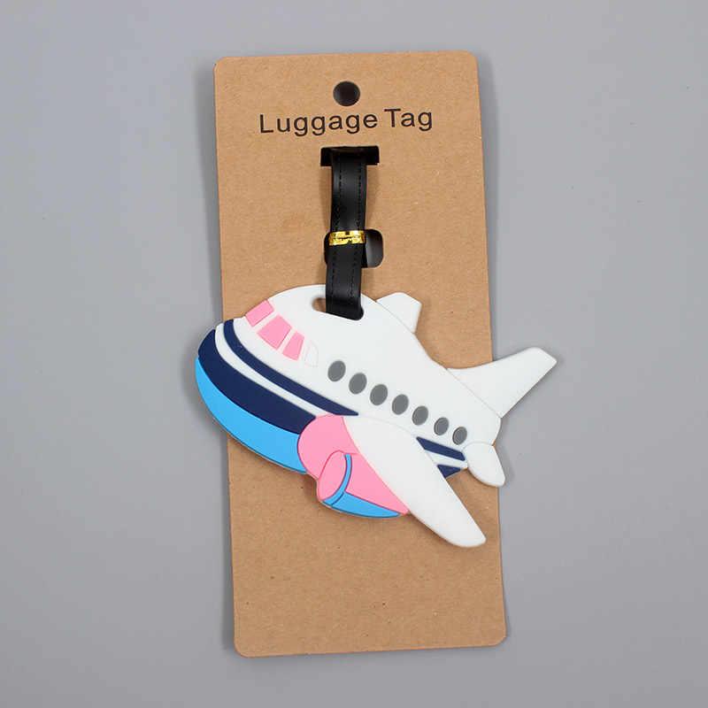 Akcesoria podróżne kreatywne rakiety samolot bagaż Tag żel krzemionkowy walizka ID Addres Holder bagaż na pokład Tag przenośna etykieta