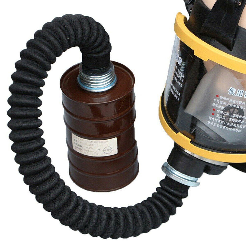 Safety Practical Filter Canister Durable Rubber Workplace Stretchable Thread Connector Portable Gas Mask Hose Accessories