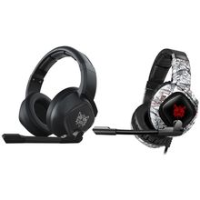 Gaming Headset with Mic Noise Isolating Over-Ear Headphones with LED Lights M5TB