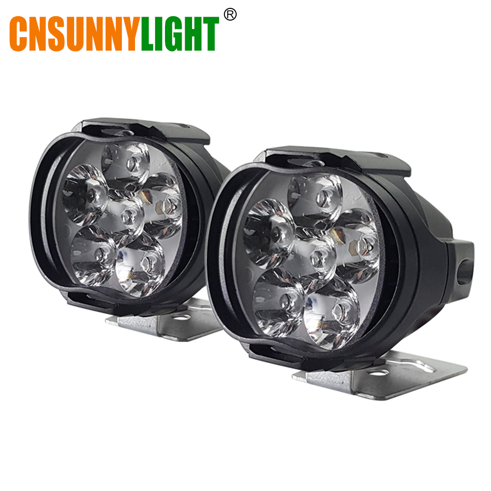CNSUNNYLIGHT Super Bright 1000Lm Motorcycles LED Headlight Lamp Scooters Spotlight 6500K White Working Car Fog Spot Light 9-85V