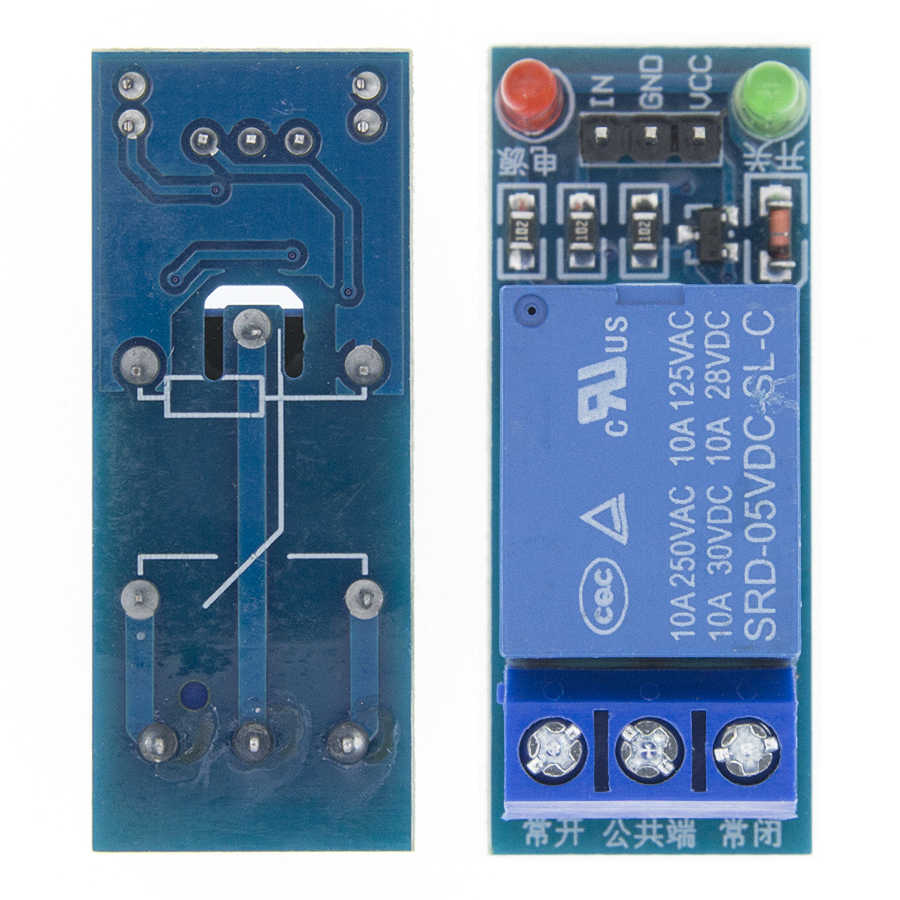 5V low level trigger Eine 1 Kanal Relais Modul interface Board Schild PIC AVR DSP ARM MCU