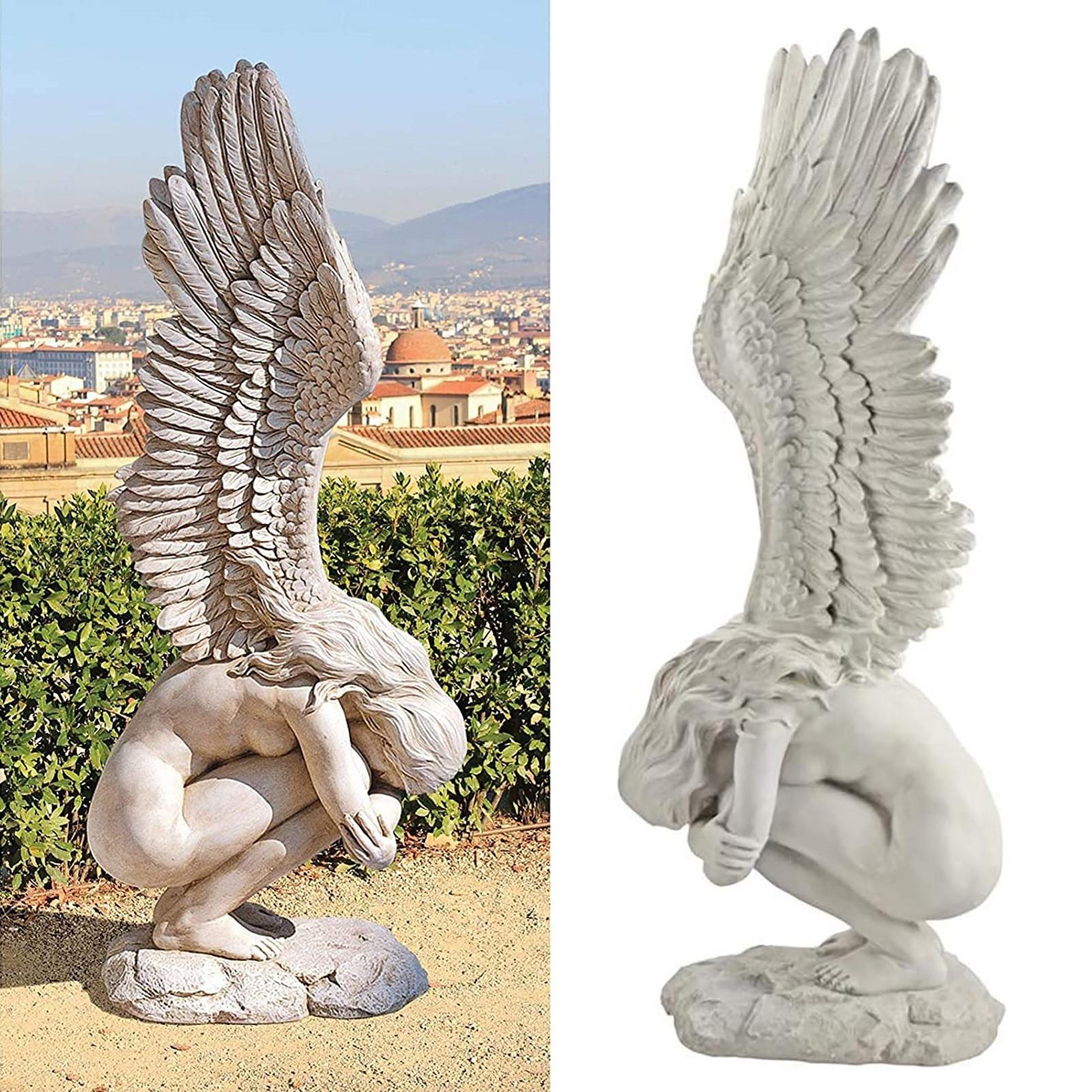 Redemption Angel Statue Ornaments Creative Sculpture Decoration Remembrance And Redemption Figurines Religious Garden Home Decor