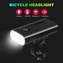 NEWBOLER 1000 люменов велосипедная фара 5200 мАч как внешний аккумулятор USB заряжаемый велосипедный фонарь передний IPX5 Водонепроницаемый MTB велоси...