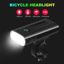 NEWBOLER 1000 לום אופניים פנס 5200mAh כמו כוח בנק USB החייבת אופני אור קדמי IPX5 עמיד למים MTB אופני פנס
