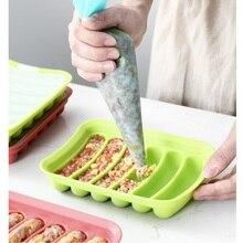 Силиконовая форма для колбасы, руководство по изготовлению овощей, инструменты для изготовления ветчины, щетка для выдавливания мяса, сумка для ребенка, дополнительная выпечка, кухня