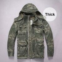 Camouflage Military Jackets Men Casual Thick Coats Pocket Cargo Jacket 2019 Fashion Autumn Winter Coat Male S310