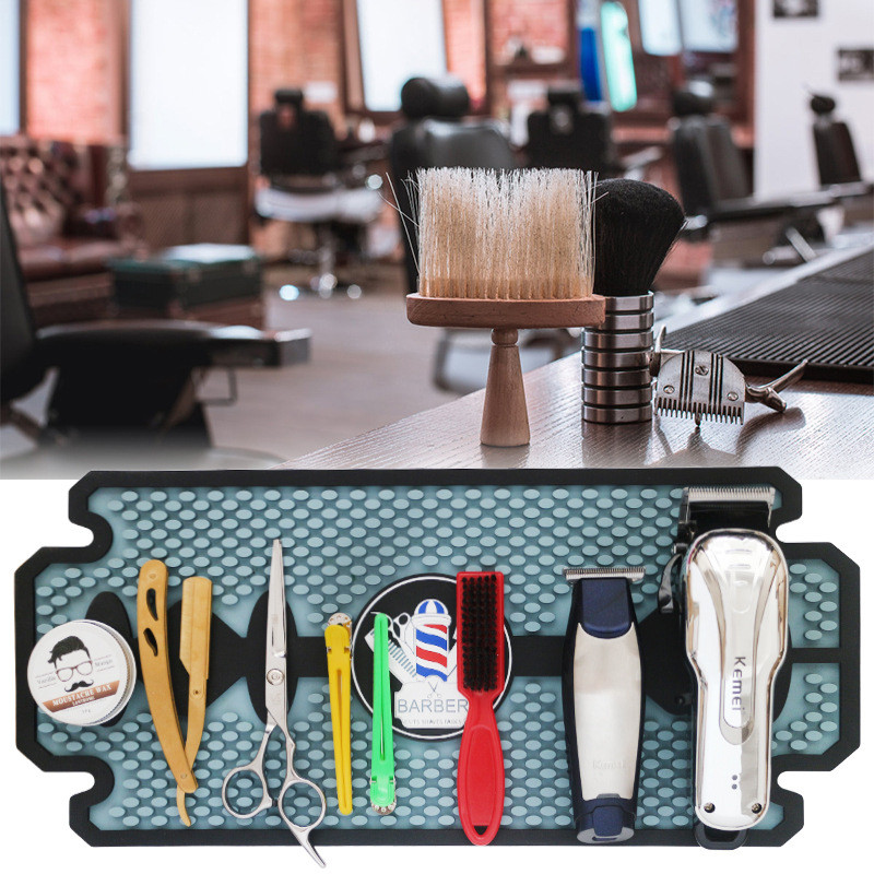 Rubber Anti-slip Mat Folding Barber Shop Hairdressing Tool Professional Salon Desktop Mat Large Area Keep Tool Neat Non-slip Mat