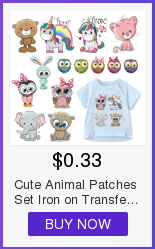 Hf28f936439ed4043aa91742866a5e11cS Cute Animal Patches Set Iron on Transfer Unicorn Owl Cat Dog Patches for Girl Kids Clothing DIY Heat Transfer Vinyl Stickers