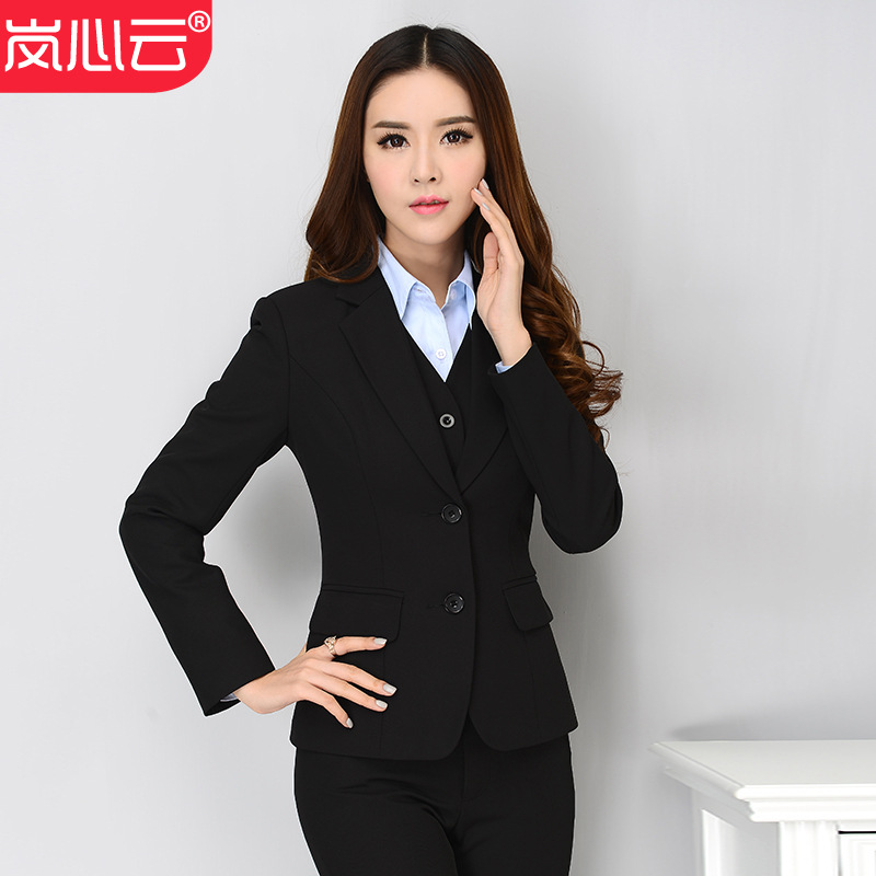 Wear WOMEN'S Pants Set Long Sleeve Large Size Slim Fit Female Skirt Interview Suit White Collar Sale Of Women's Dress Waistcoat
