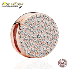 2020 Rose Gold Charm 925 Sterling Silver Clip Fit Pandora Charms Original Bracelets Beads Fashion Jewelry Making DIY