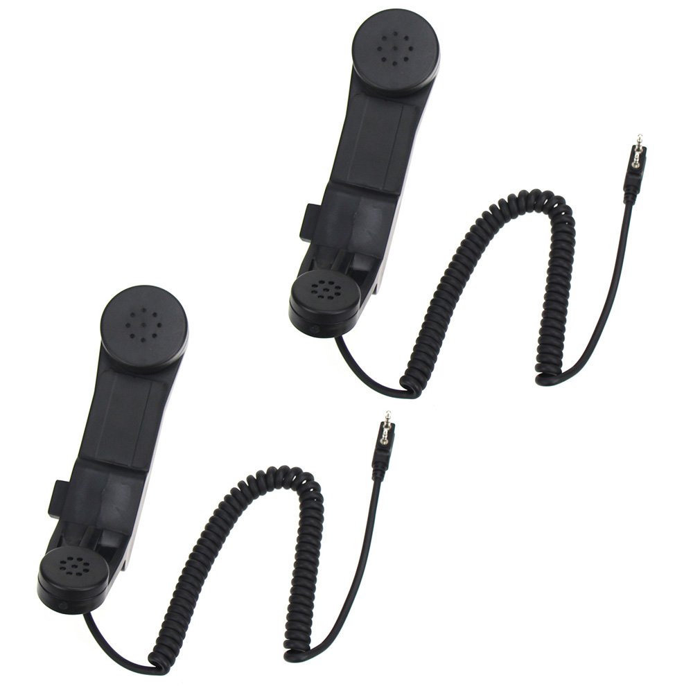 2Pcs Army Radio Microphone Military Handheld Speaker Mic For Kenwood BaoFeng UV-5R