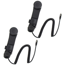 2Pcs Army radio Microphone Military Handheld Speaker Mic for Kenwood BaoFeng UV-5R hm 131 speaker mic for handheld radio t7 w32