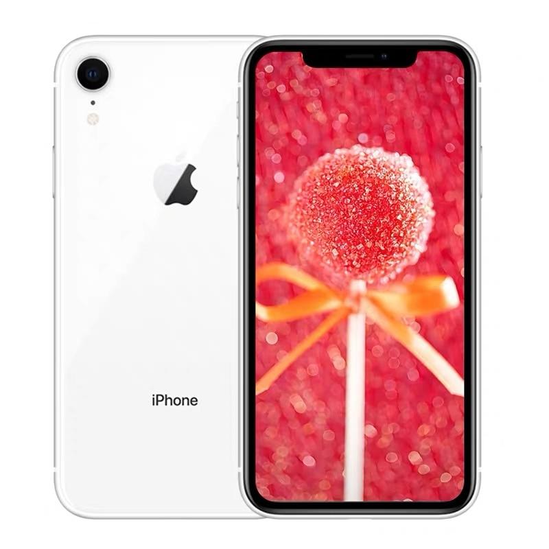 """Id original da cara do iphone xr da apple do telefone móvel da segunda mão 6.1 """"3g ram 64gb/128gb/256gb rom 4g lte apple smartphone nfc 2"""