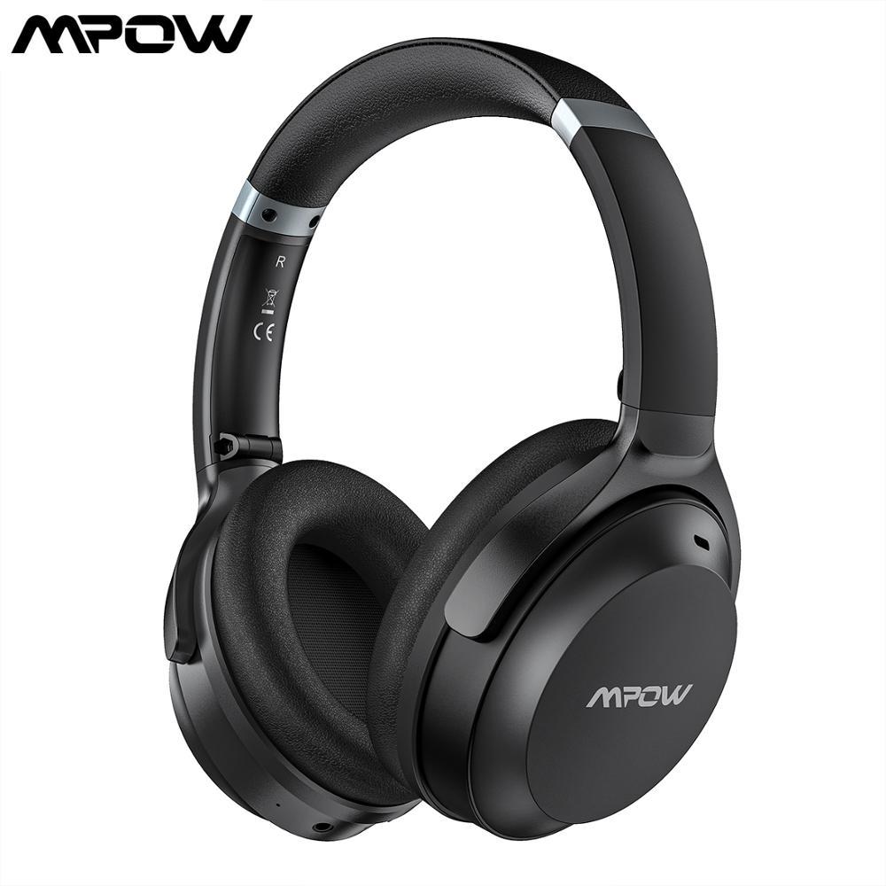 Наушники Mpow H12 IPO CVC 8,0 с шумоподавлением, Bluetooth 5,0, наушники с функцией воспроизведения 40 часов, наушники с регулируемой складной повязкой