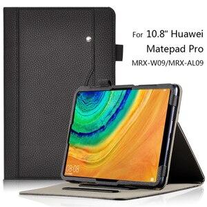 Dla Huawei MatePad Pro 10.8 ''pokrowiec na tableta biznes PU skórzane etui z podstawką obudowa ochronna Mate Pad Pro 10.8 MRX-W09/L09 Case