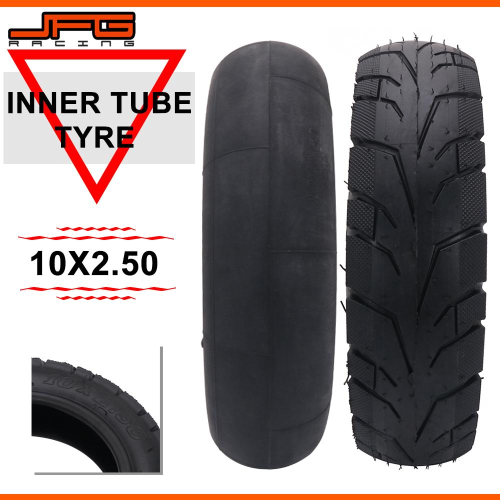 Motorcycle 10 x 2.5 <font><b>10*2.5</b></font> Inch Inner Outer <font><b>Tire</b></font> Tyres Tube For Electric Gas Scooter Inflation Wheel Pneumatic Wheelchair E-bike image