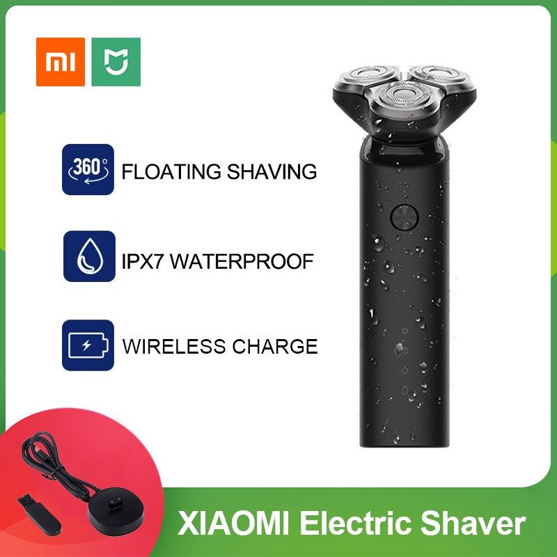 2669.8руб. 27% СКИДКА|Электробритва Xiaomi Mijia, машинка для бритья бороды для мужчин, сухая и влажная борода, триммер, перезаряжаемая моющаяся 3d головка, двойные лезвия|Электробритвы| |  - AliExpress