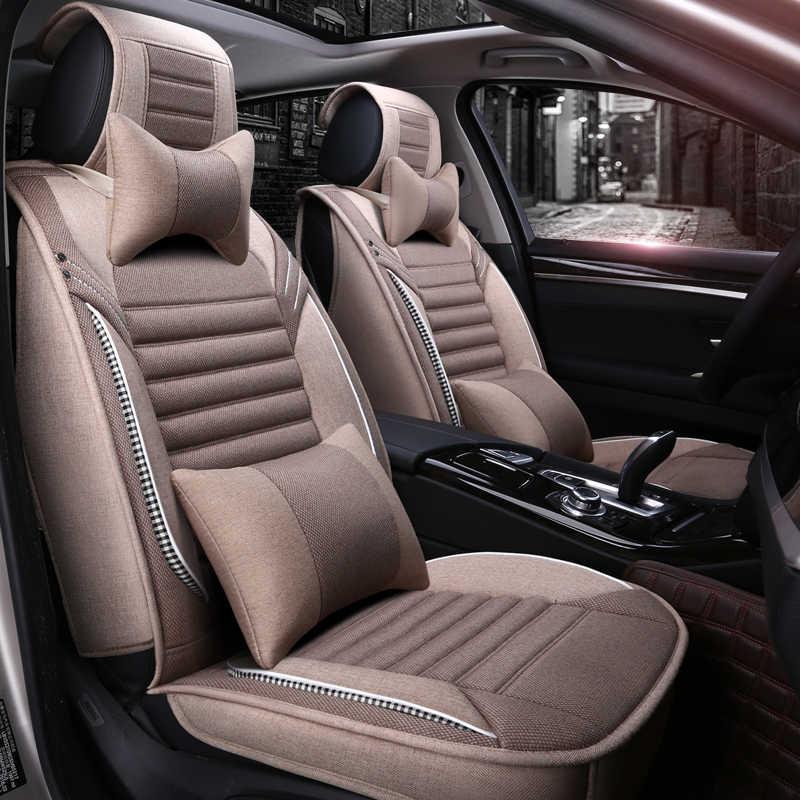 Cakupan Penuh Flax Kursi Mobil Auto Kursi Covers untuk Lexus CT Scan Ialah JS JSF LC LS GX LX RX 200 250 300 350 H
