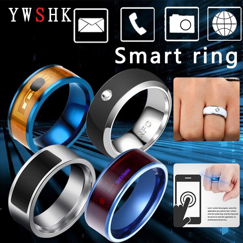 Новый модный Технология NFC Smart палец кольцо для Android/Apple мобильный телефон, с функциональными ювелирные изделия из нержавеющей стали для пар