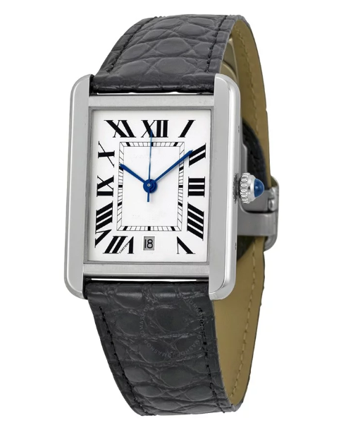 Luxury Brand New Quartz Men Women Gold Silver White dial Black Leather Watch Sapphire Stainless Steel Watch AAA+