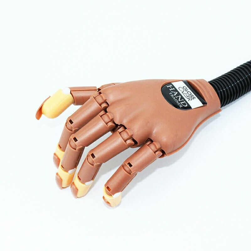 Рука для практики ногтей маникюр накладные ногти показать руки гибкое позиционирование механическая рука подарок Кончик Ногтя 100 шт. Сменн