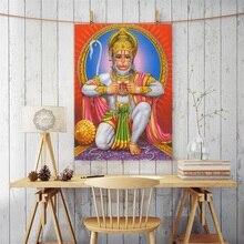 Hanuman God Balaji Bajrang Oil Painting on Canvas Posters and Prints Scandinavian Wall Art Picture Living Room Cuadros Decor