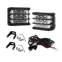 For Jeep Truck Atv Suv 4 Inch Led Pod Lights Cube Work Light with Amber Turn Signal Side Light Led