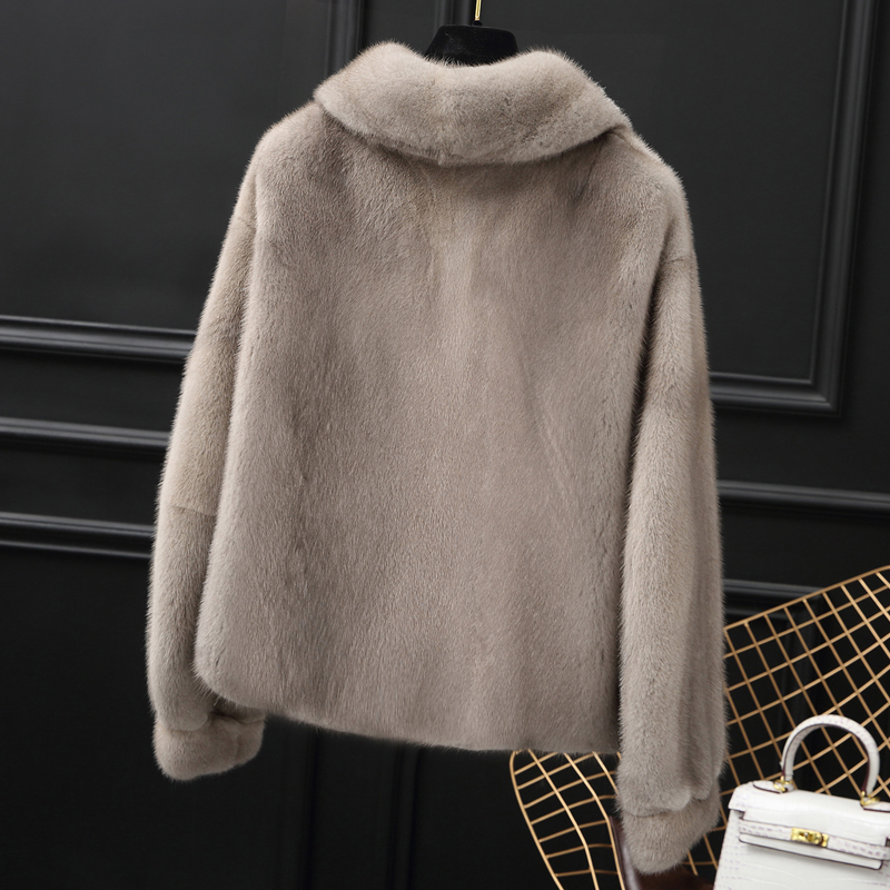 Fur Mink Real Coat Female Luxury Natural Full Pelt Fur Jackets 2020 Winter Jacket Women Short Kroean Outerwear MY3678