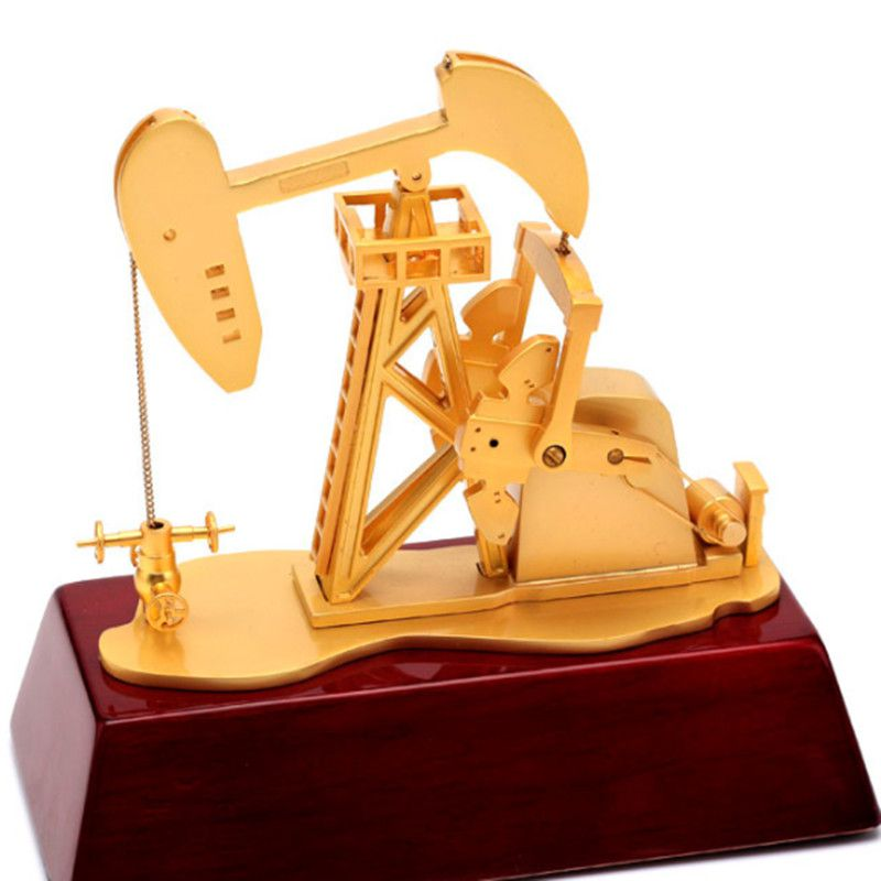 East Oil Engine Machine Metal Oilfield Oil Extractor Pumping Unit Model Metal Decoration Gift