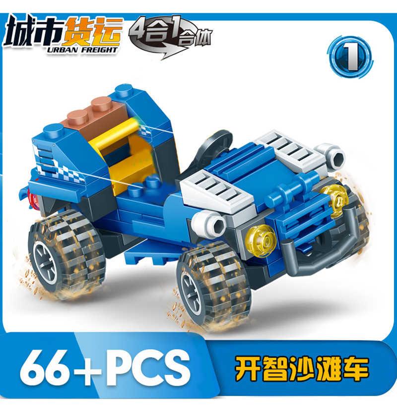 316 шт. для города техника синий грузовик грузовой автомобиль модель набор собрать детей модель строительные блоки кирпичи игрушки 3221