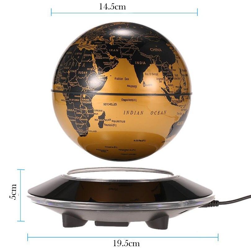 СВЕТОДИОДНЫЙ плавающий теллурий Глобус Ночной свет магнитной левитации антигравитационный карта мира для детей подарок офисный книжный шкаф Спальня домашний декор - 4