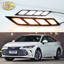 For Toyota Avalon 2018 2019 LED Daytime Running Lights with Flowing Yellow Turn Signal Lamp Fog lamp Driving Lights(China)