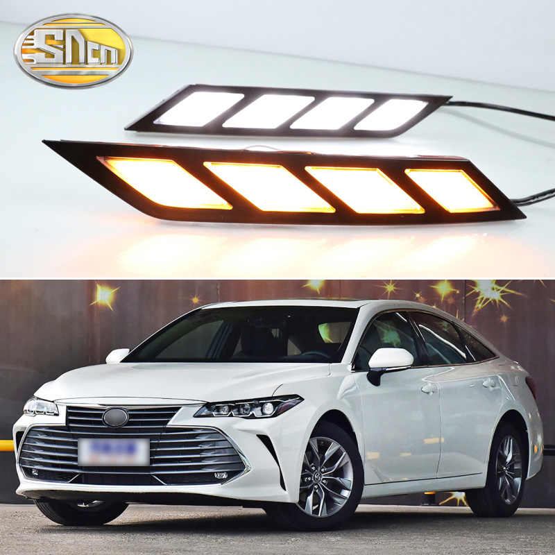 For Toyota Avalon 2018 2019 LED Daytime Running Lights with Flowing Yellow Turn Signal Lamp Fog lamp Driving Lights