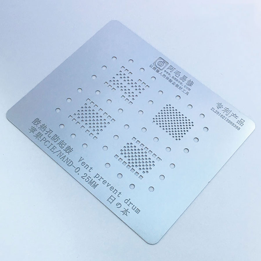 Amaoe Reballing Stencil Hard Disk/NAND /PCIE Stencil for iPhone XR XS max XS X 8P 8 7P 7 6sp 6P iPad all Series Repair 1