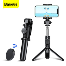 Baseus bluetooth selfie vara tripé para iphone 11 pro xs max x 6s xiaomi 9 huawei telefone móvel mini selfiestick monopod