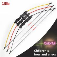 Hot 1set 60cm Professional Wood Reflex Bow High Quality Shooting Set Toys Popular Gift for Children Over 6 Years Old