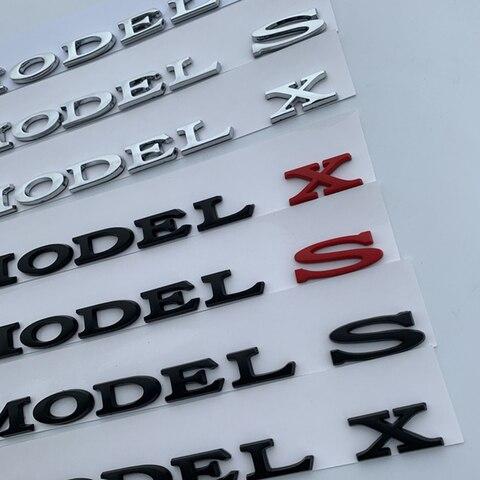 modelo 3 5 s modelo x letras emblema para tesla estilo do carro remontagem de