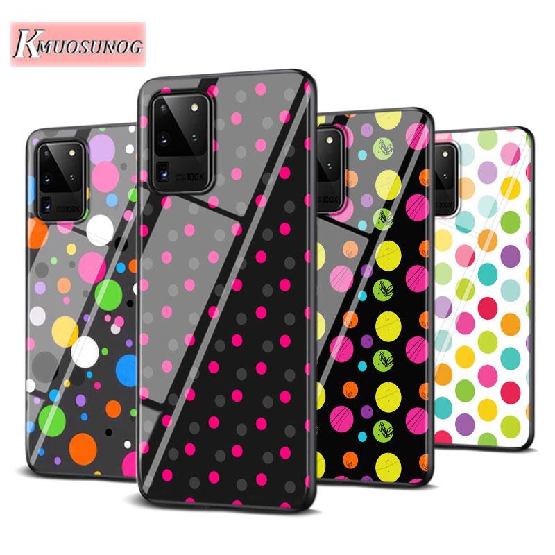 Polka Dots Art for Samsung Galaxy Note 10 Lite S20Ultra S20 Plus A01 A21 A51 A71 A81 A91 Super Bright Phone Case