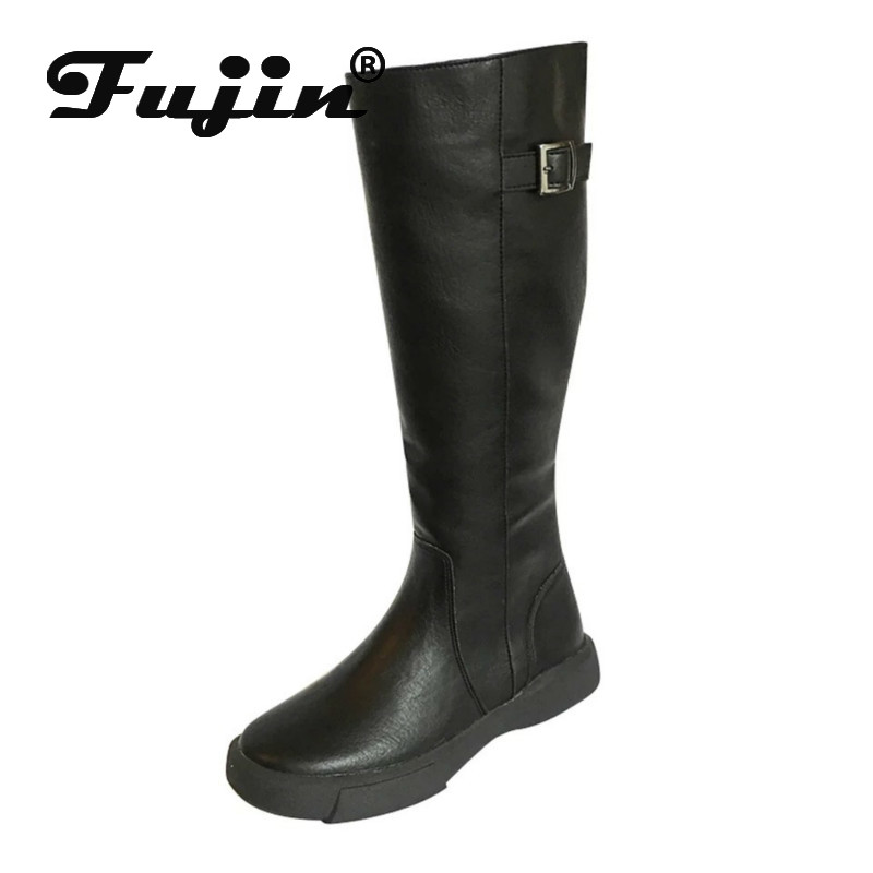 Size-Boots Thick-Bottom Retro Autumn Winter Women New-Fashion Fujin In-England Large