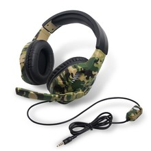 Game Headset Camouflage PC Computer Gamer with Microphone for Laptop Cellphone GV99