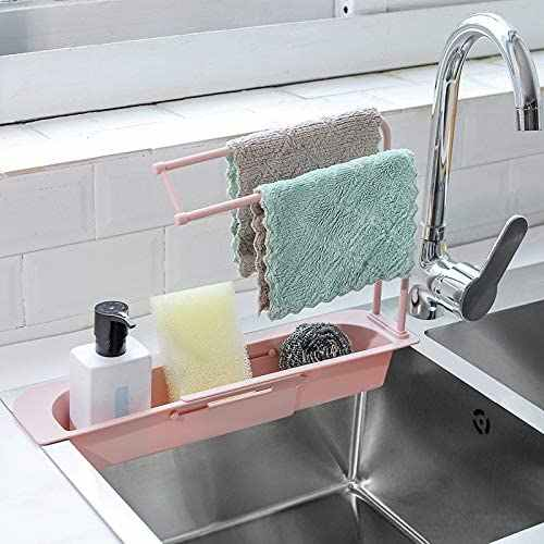 Kitchen Sink Strainer Drain Retractable Sink Stand Retractable Rack Storage  Drainage Basket Sponge Soap Holder Drain filter|Kitchen Drains & Strainers|  - AliExpress