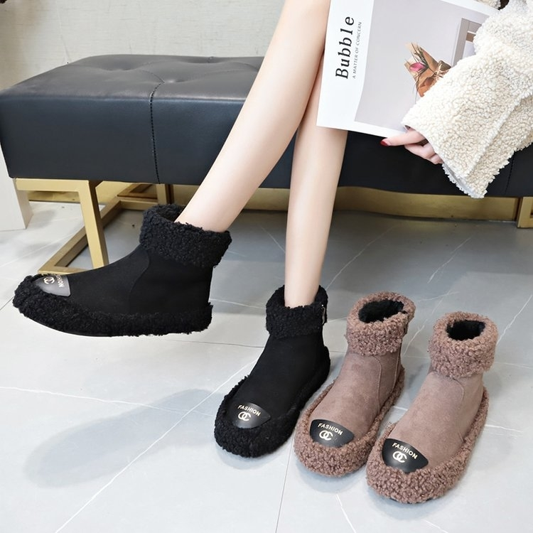 Women Boots 2019 New Plush Snow Boots For Winter Shoes Women Casual Lightweight Ankle Botas Mujer Warm Winter Boots Female 93