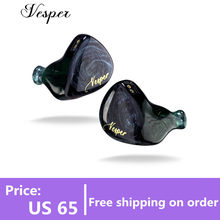 QOA – écouteurs intra-auriculaires Vesper 1BA + 1DD, casque d'écoute, pilote hybride, HIFI, moniteur DJ, oreillettes QOA rose, Kinera, YH623